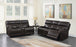 Longport Upholstered Power Sofa Dark Brown