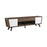 2-Drawer TV Console Dark Walnut And Glossy White