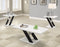 3-Piece X-Leg Occasional Table Set White And Black