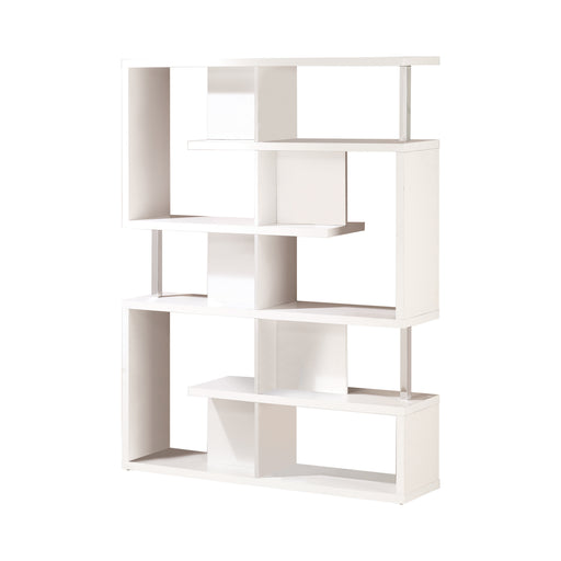 5-Tier Bookcase White And Chrome