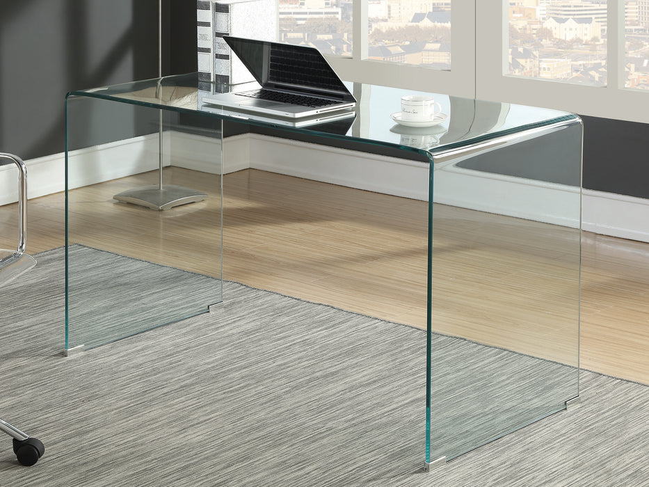 Highsmith Glass Writing Desk Clear(Pick up Only)