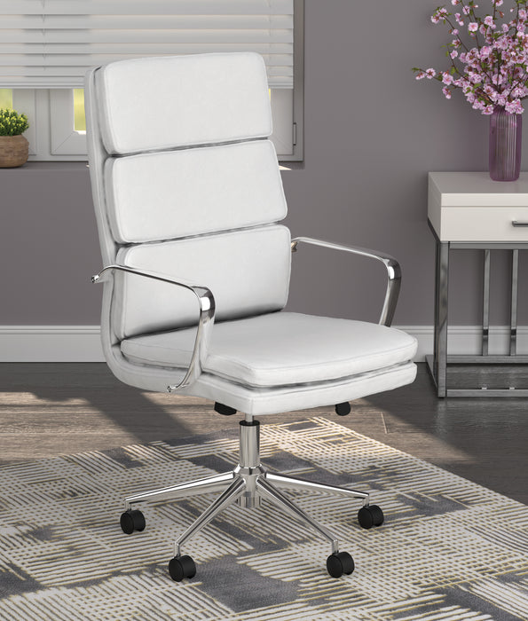 High Back Upholstered Office Chair White