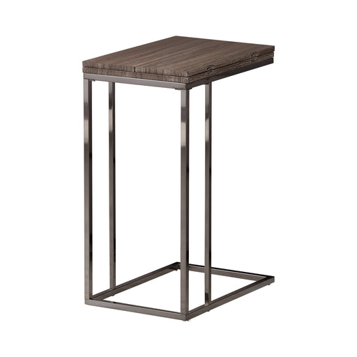 Expandable Top Accent Table Weathered Grey And Black SKU: