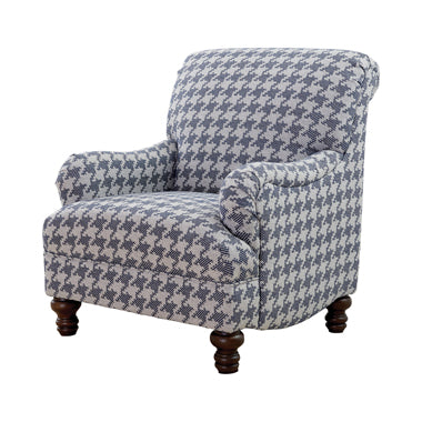 Gwen Recessed Arms Accent Chair Blue