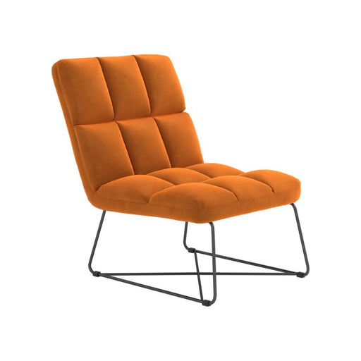 BURNT ORANGE ACCENT CHAIR