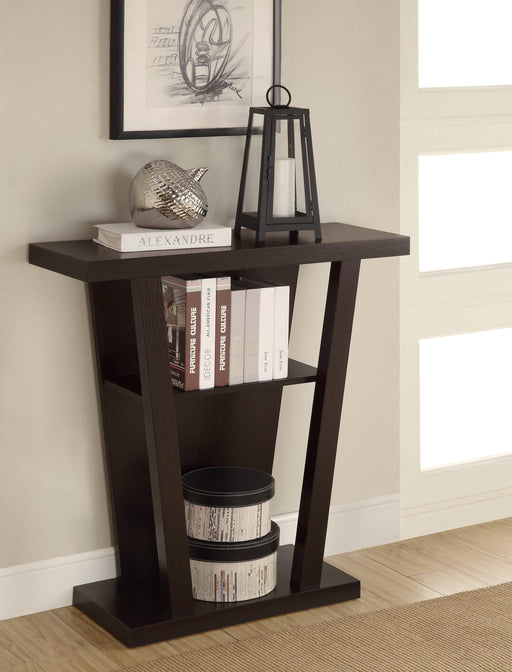 2-Shelf Console Table Cappuccino