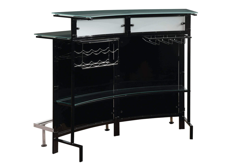 Two-Shelf_Contemporary_Chrome_And_Black_Bar_Unit_2