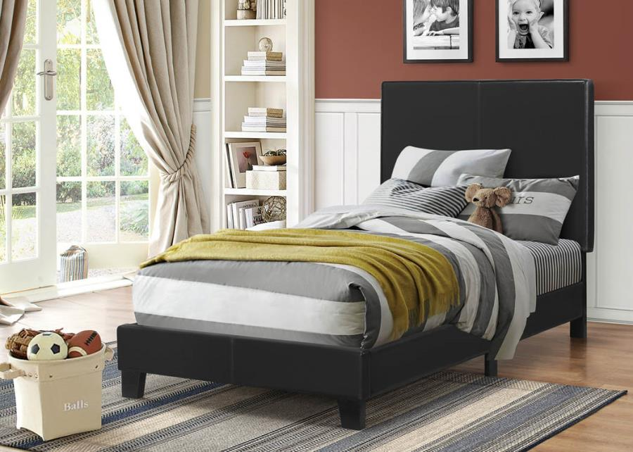 Mauve_Upholstered_Platform_Black_Twin_Bed_1