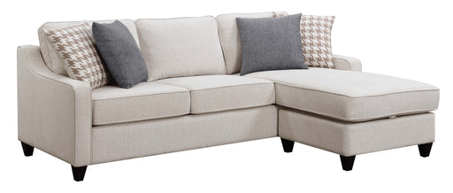 Scott Living Montgomery Transitional Cream Sectional Reversible Chaise_2