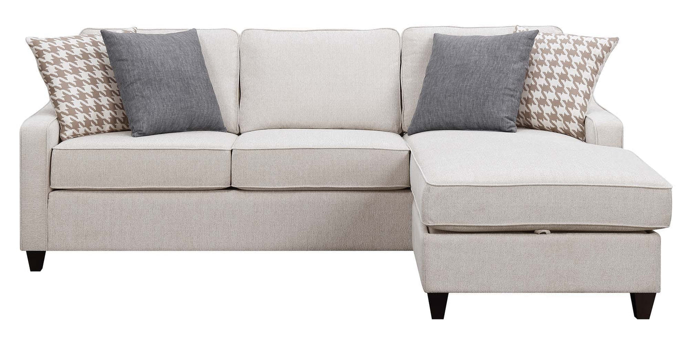 Scott Living Montgomery Transitional Cream Sectional Reversible Chaise_3
