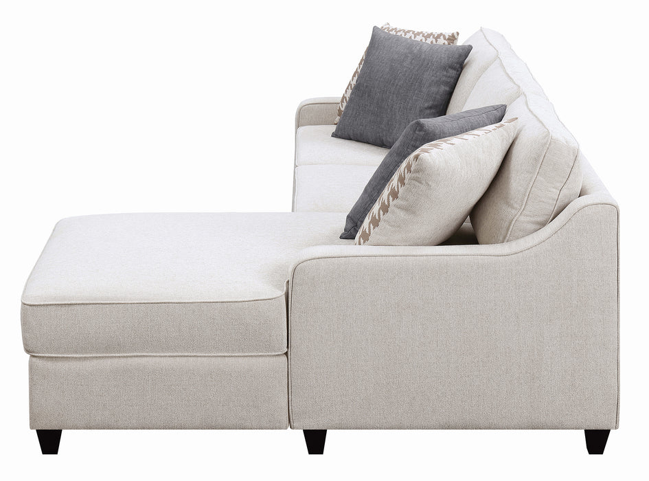 Scott Living Montgomery Transitional Cream Sectional Reversible Chaise_5