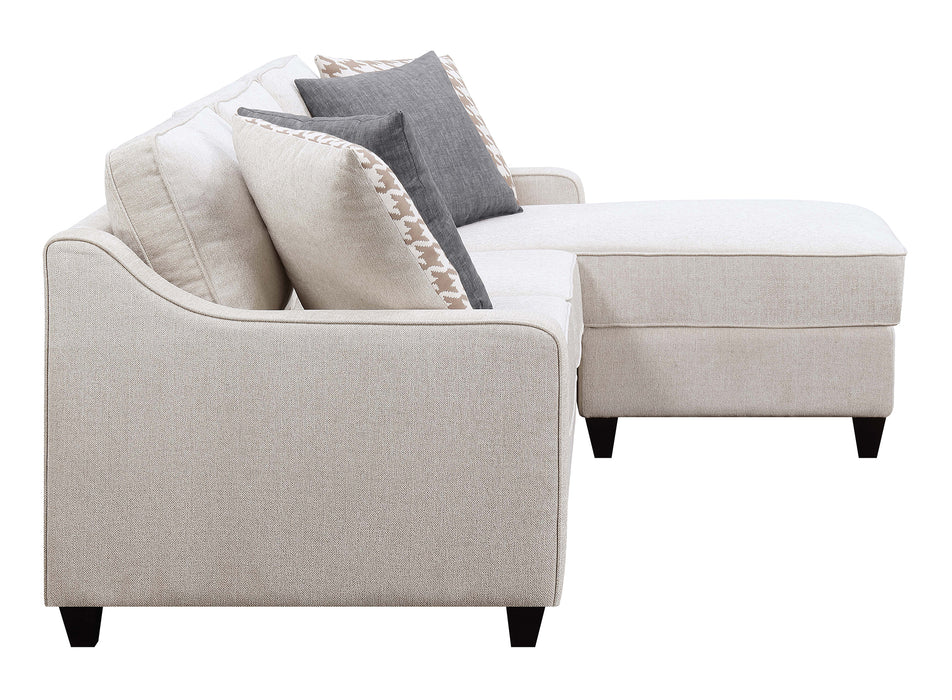 Scott Living Montgomery Transitional Cream Sectional Reversible Chaise_4
