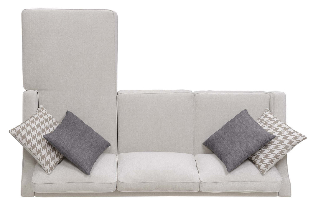 Scott Living Montgomery Transitional Cream Sectional Reversible Chaise_8