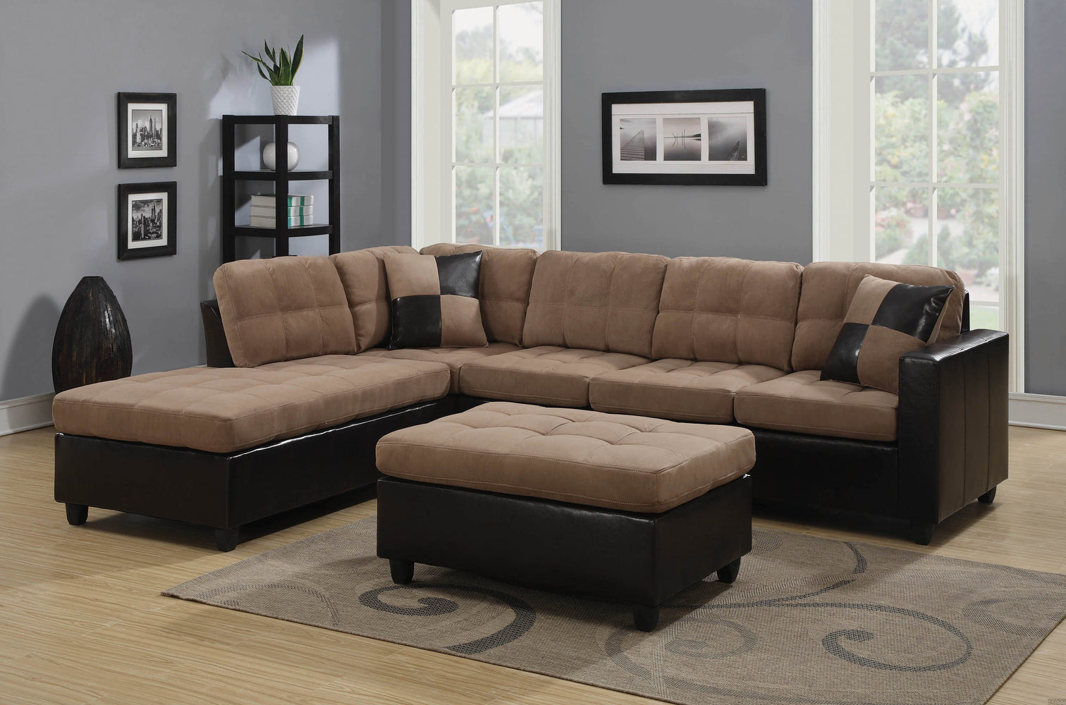 Mallory_Casual_Tan_Sectional_1