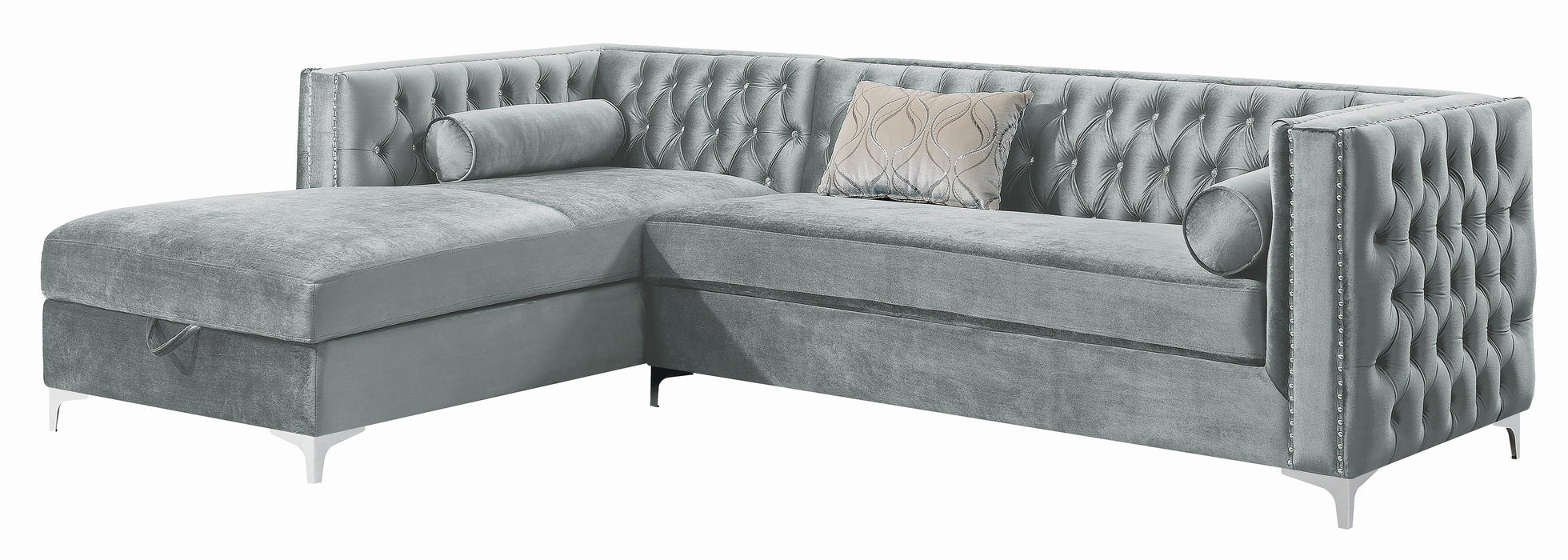 Bellaire_Contemporary_Silver_And_Chrome_Sectional_2