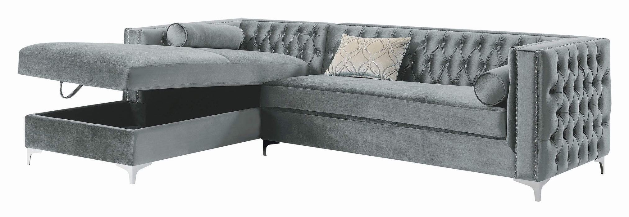 Bellaire_Contemporary_Silver_And_Chrome_Sectional_3