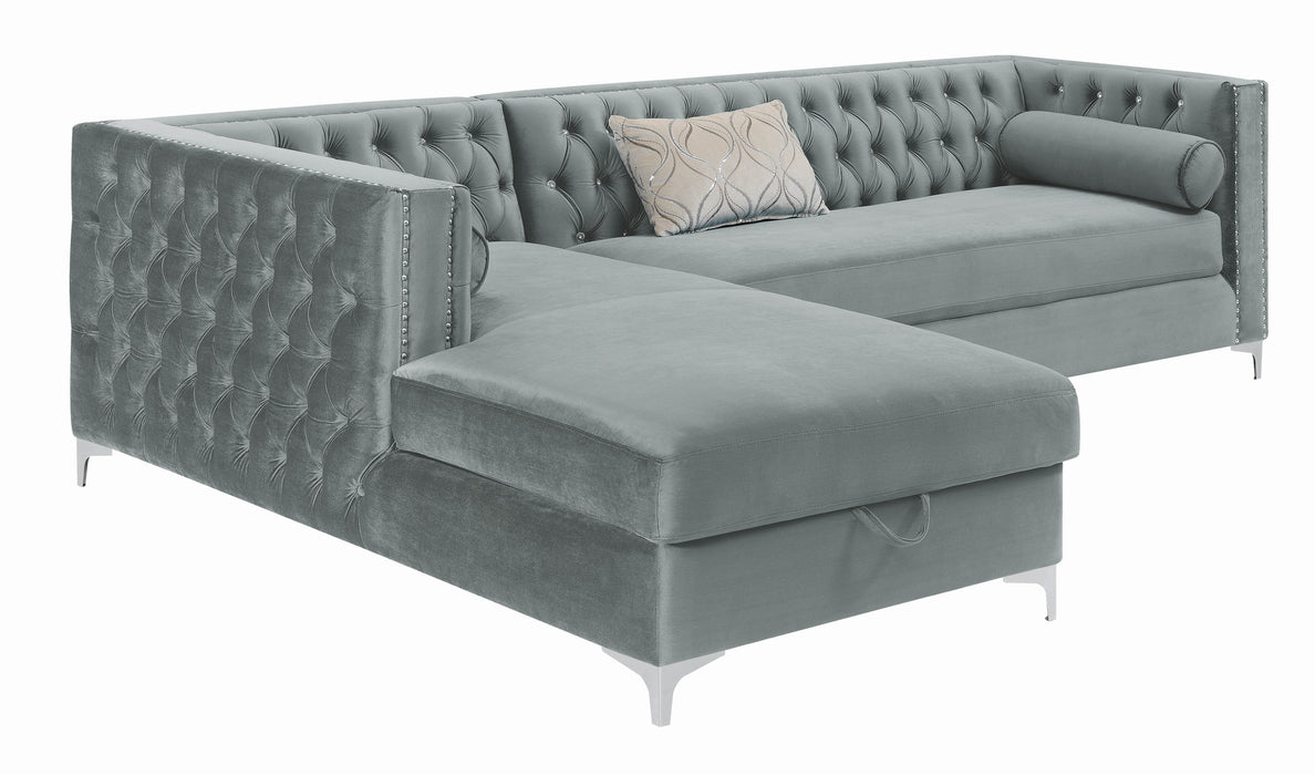Bellaire_Contemporary_Silver_And_Chrome_Sectional_4