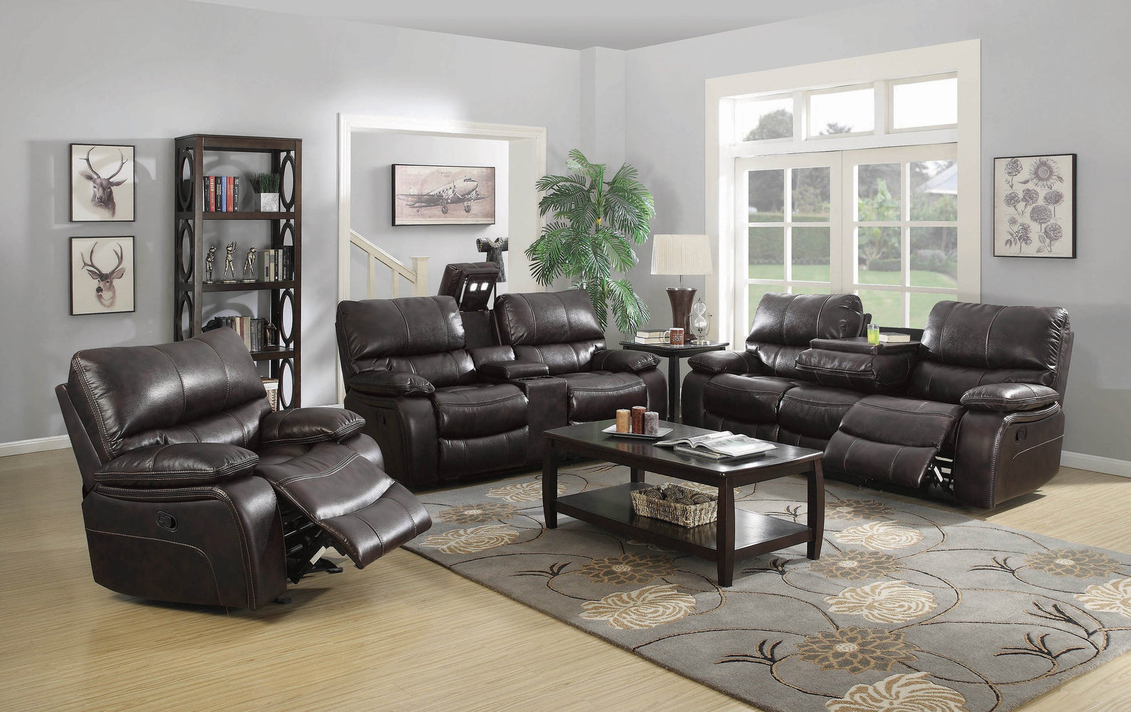 Willemse_Chocolate_Reclining_Sofa_With_Drop_Down_Table_1
