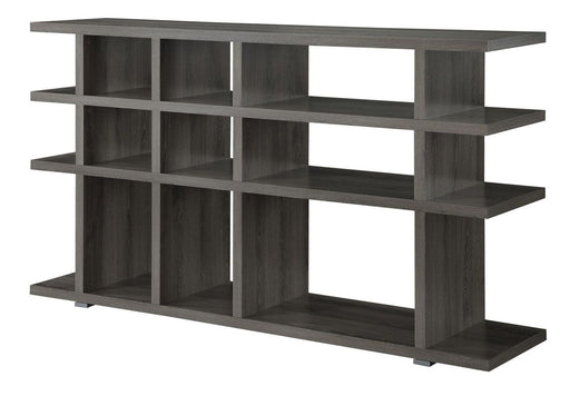 Contemporary Weathered Grey Bookcase_2
