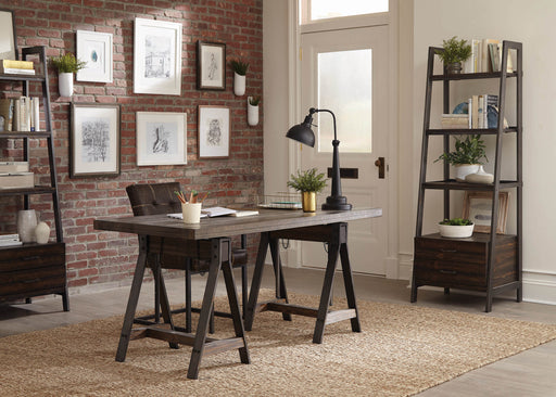 Scott_Living_Deponte_Weathered_Gunmetal_Adjustable_Writing_Desk_w/_Bookcase_Home_Office_Set_1