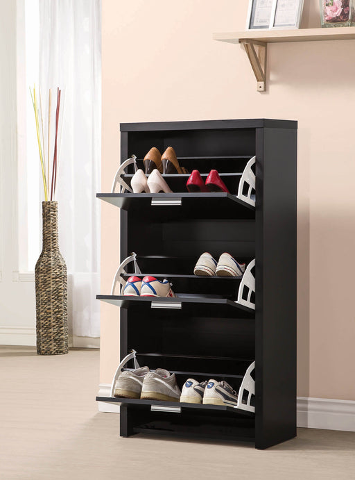 Transitional_Black_Shoe_Rack_2