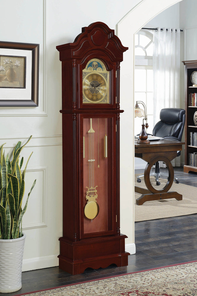 Traditional_Brown_Red_Grandfather_Clock_1