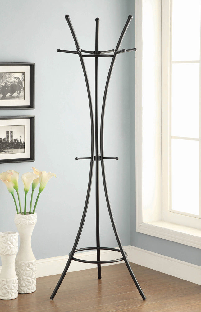 Modern_Black_Metal_Coat_Rack_1