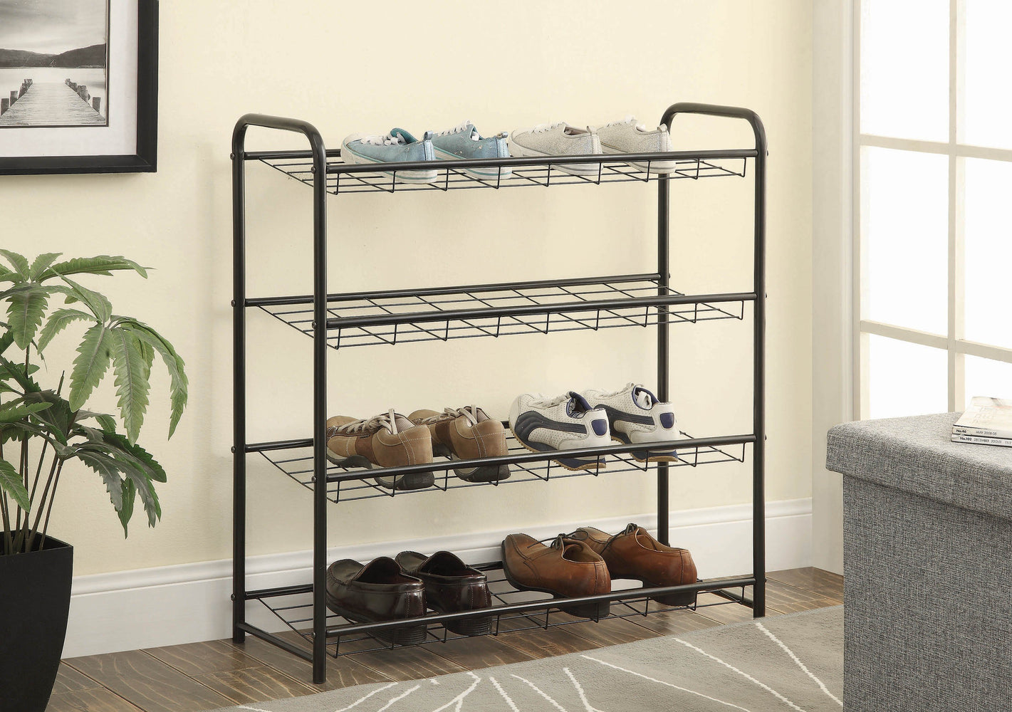 Transitional_Black_Shoe_Rack_1