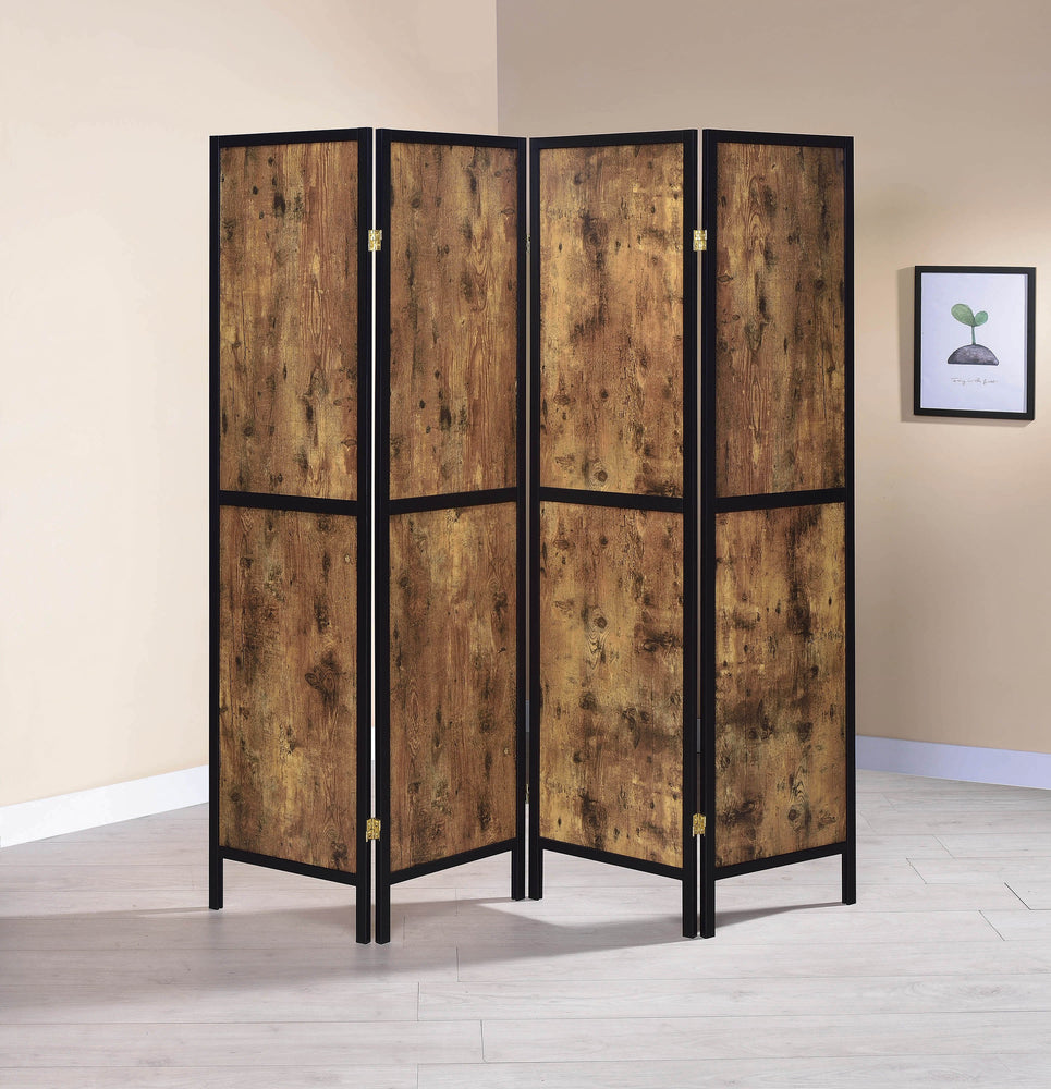 Industrial_Antique_Nutmeg_Four-Panel_Screen_Room_Divider_1