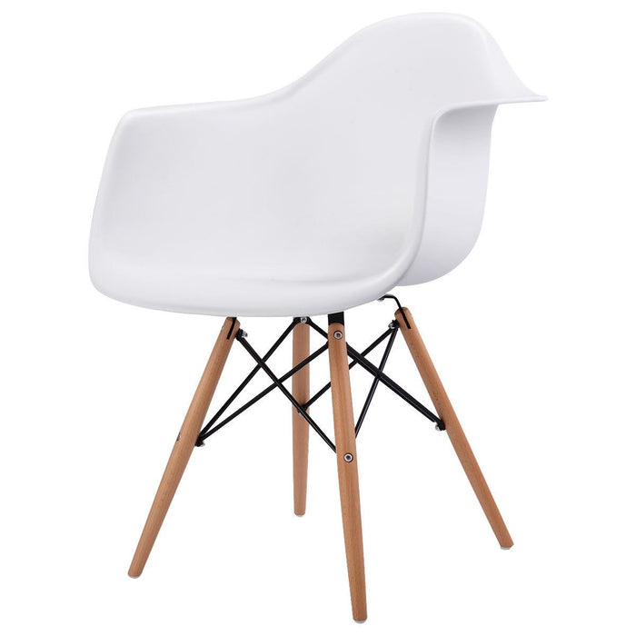 Queen Accent Chairs w/ Wood Legs - Set of 2 - White_3