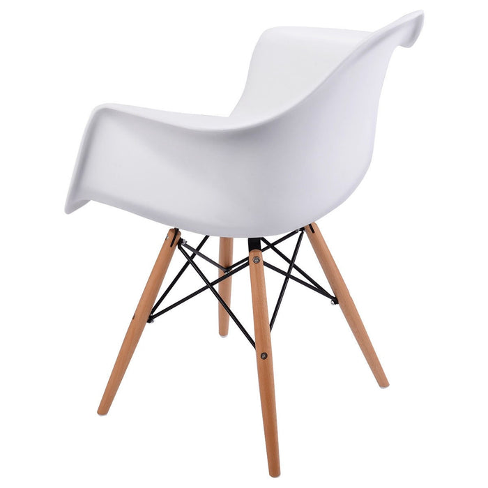 Queen Accent Chairs w/ Wood Legs - Set of 2 - White_5
