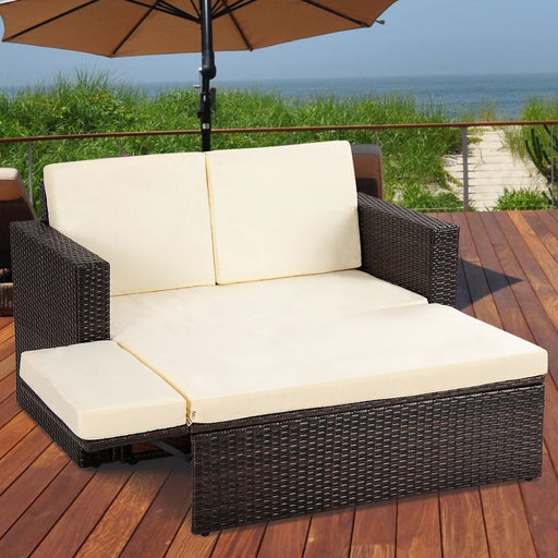 Julian Rattan Wicker 2-PCS Outdoor Patio Furniture Seating Set_2