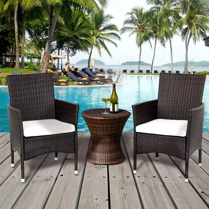 Geneva Outdoor Rattan Wicker Arm Chairs - Set of 2_1