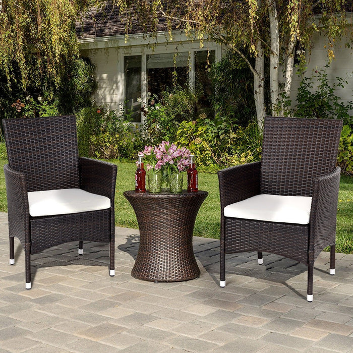 Geneva Outdoor Rattan Wicker Arm Chairs - Set of 2_2