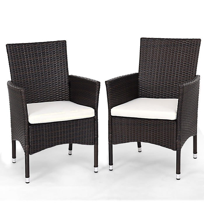 Geneva Outdoor Rattan Wicker Arm Chairs - Set of 2_4