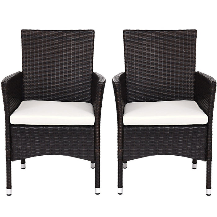 Geneva Outdoor Rattan Wicker Arm Chairs - Set of 2_5