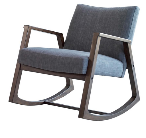 GRAY FABRIC ROCKING CHAIR