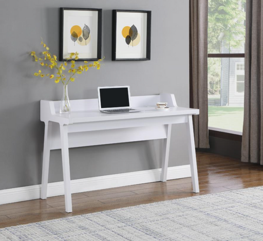 WRITING DESK W/ OUTLET WHITE