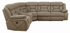 Higgins Four-Piece Upholstered Power Sectional Tan