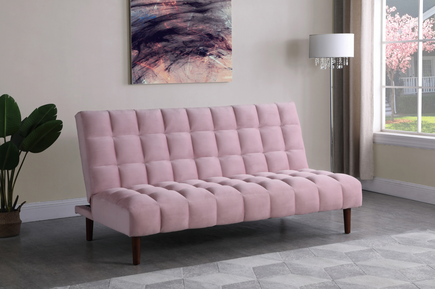 Cullen Biscuit Tufted Upholstered Sofa Bed
