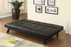 Corrie Biscuit-Tufted Upholstered Sofa Bed Black