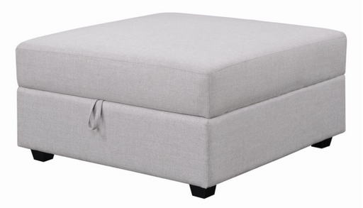 Cambria Square Storage Ottoman Grey