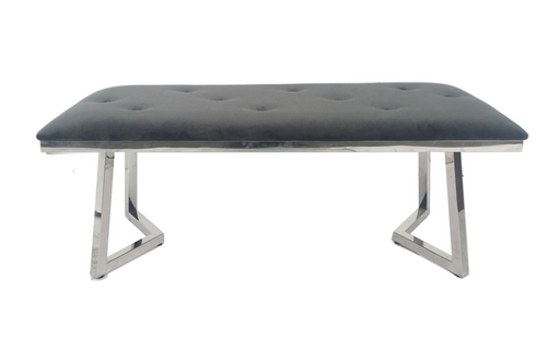 Beaufort Upholstered Tufted Bench Dark Grey