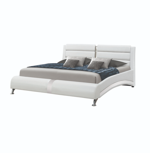 Jeremaine Eastern King Upholstered Bed White Collection