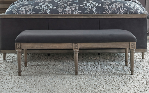 Alderwood Upholstered Bench French Grey