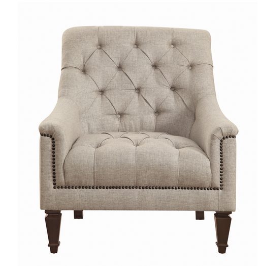 Avonlea Sloped Arm Upholstered Chair Grey