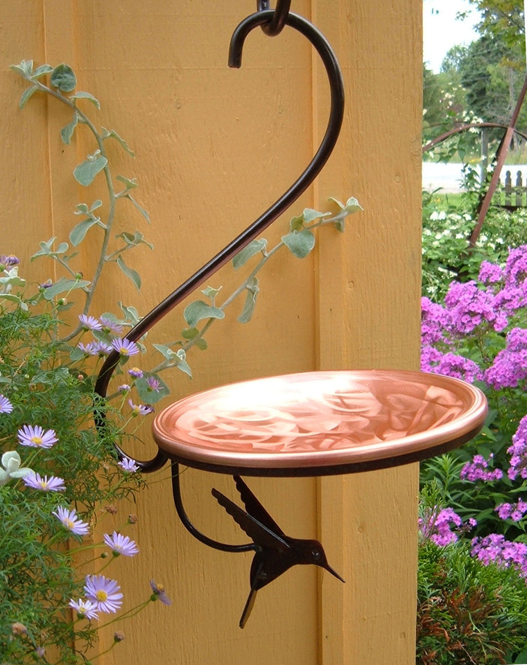 Bird Bath with Hummingbird