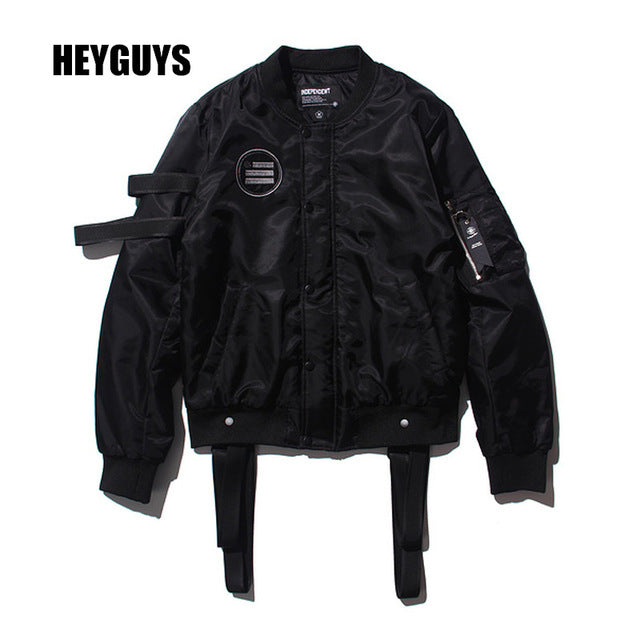 HEYGUYS Walking Dead street black Jacket Hip Hop wear windbreaker bomber jacket brand clothing mens jackets and coats