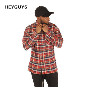 HEYGUYS  2017  HIP hop plain shirts fashion street wear sleeveness shirts man hot selling oversize zipper checked