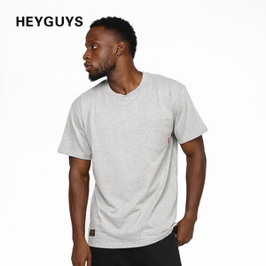 HEYGUYS cotton t shirt men ship hip hop street wear high quality pure color hip hop clothes korean men fashion